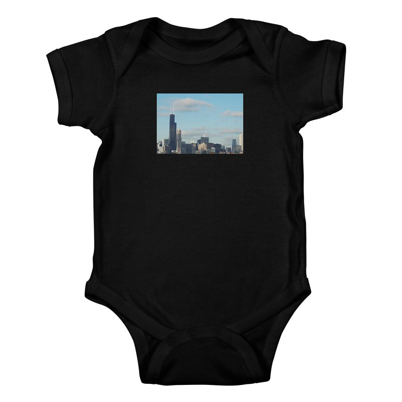 00 IllState Of Mind-Chi 94 Willis Tower Kids Baby Bodysuit by HUNDRED