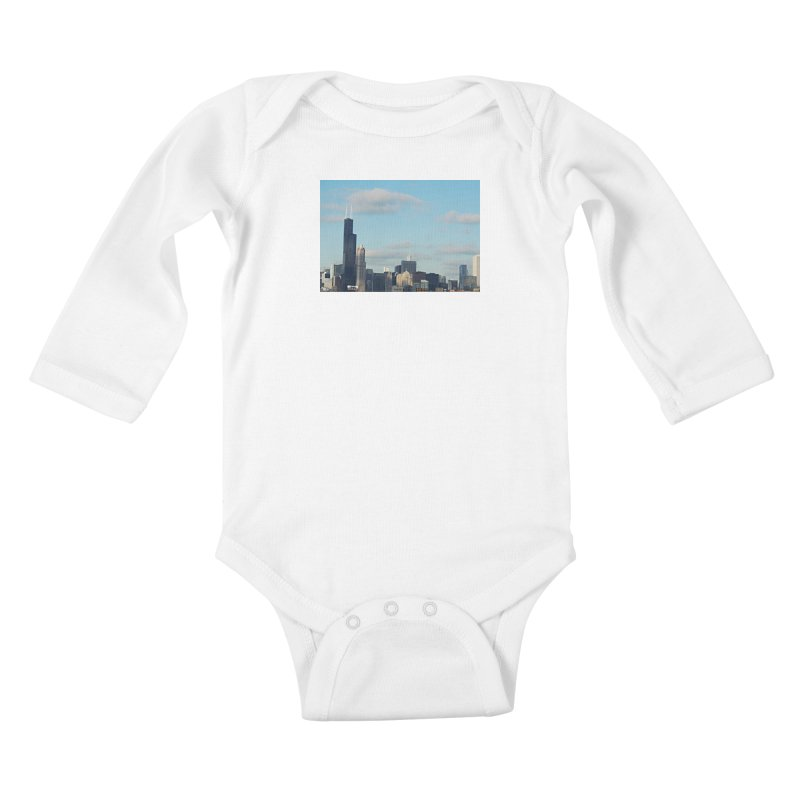 00 IllState Of Mind-Chi 94 Willis Tower Kids Baby Longsleeve Bodysuit by HUNDRED