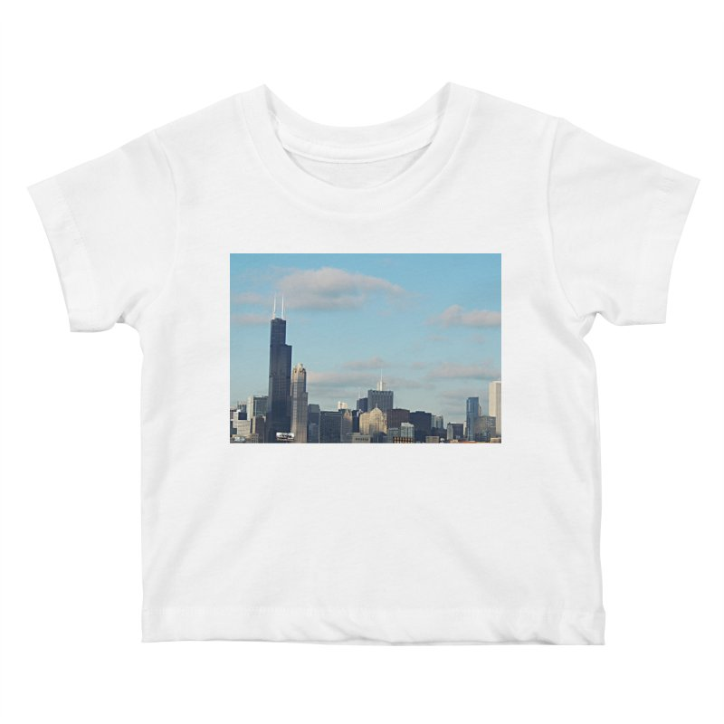 00 IllState Of Mind-Chi 94 Willis Tower Kids Baby T-Shirt by HUNDRED