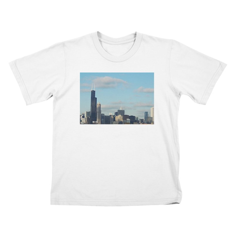 00 IllState Of Mind-Chi 94 Willis Tower Kids T-Shirt by HUNDRED
