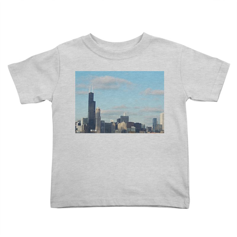 00 IllState Of Mind-Chi 94 Willis Tower Kids Toddler T-Shirt by HUNDRED
