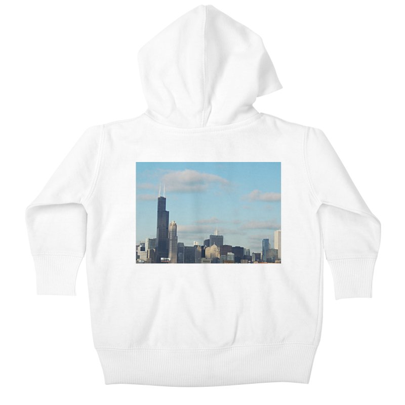 00 IllState Of Mind-Chi 94 Willis Tower Kids Baby Zip-Up Hoody by HUNDRED