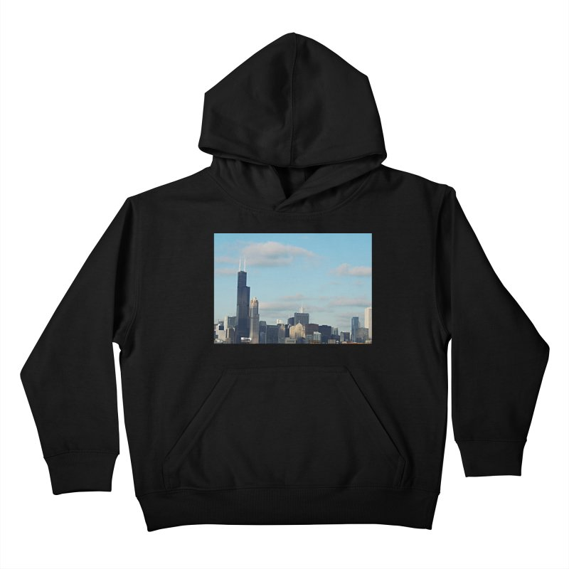 00 IllState Of Mind-Chi 94 Willis Tower Kids Pullover Hoody by HUNDRED