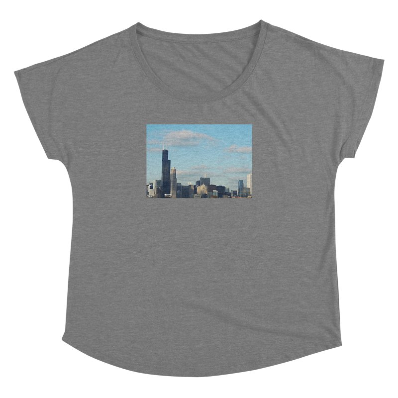 00 IllState Of Mind-Chi 94 Willis Tower Women's Dolman Scoop Neck by HUNDRED