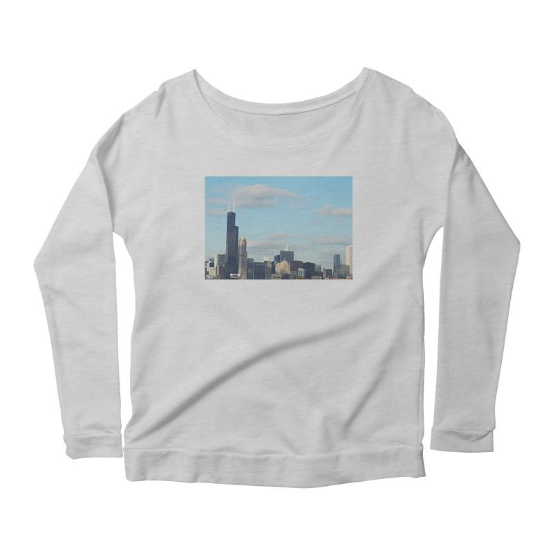 00 IllState Of Mind-Chi 94 Willis Tower Women's Scoop Neck Longsleeve T-Shirt by HUNDRED