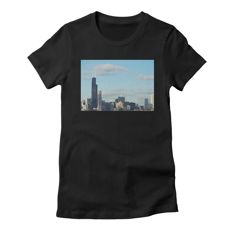 00 IllState Of Mind-Chi 94 Willis Tower Women's Fitted T-Shirt by HUNDRED