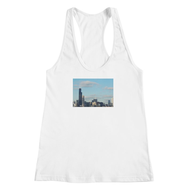 00 IllState Of Mind-Chi 94 Willis Tower Women's Racerback Tank by HUNDRED