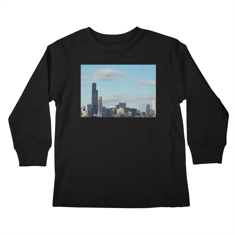 00 IllState Of Mind-Chi 94 Willis Tower Kids Longsleeve T-Shirt by HUNDRED