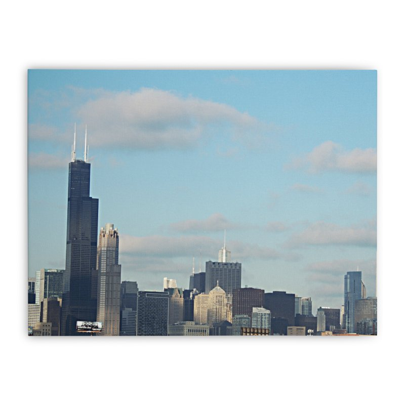 00 IllState Of Mind-Chi 94 Willis Tower Home Stretched Canvas by HUNDRED