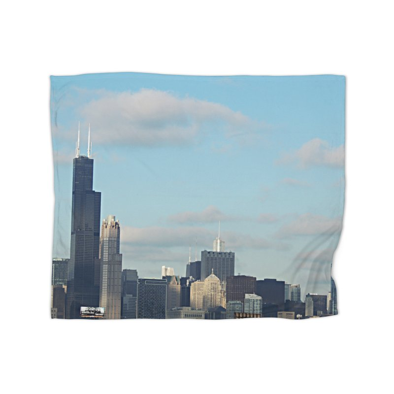 00 IllState Of Mind-Chi 94 Willis Tower Home Fleece Blanket Blanket by HUNDRED