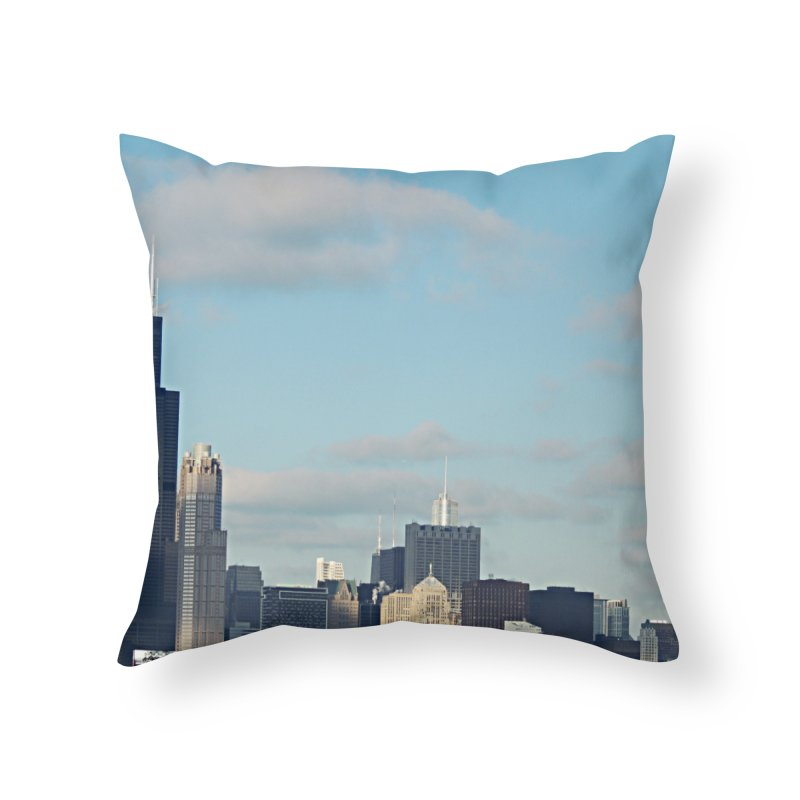 00 IllState Of Mind-Chi 94 Willis Tower Home Throw Pillow by HUNDRED