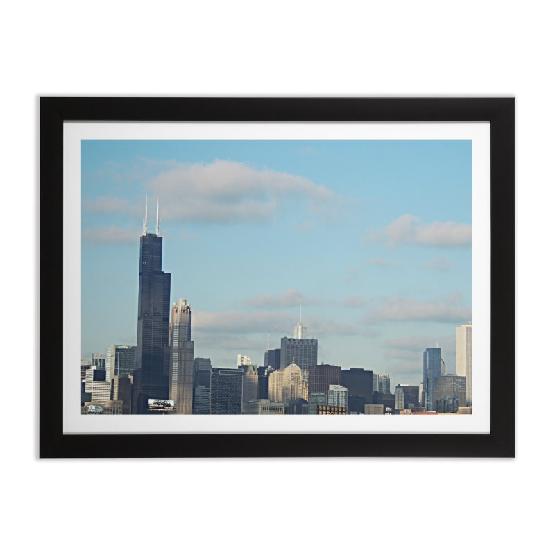 00 IllState Of Mind-Chi 94 Willis Tower Home Framed Fine Art Print by HUNDRED