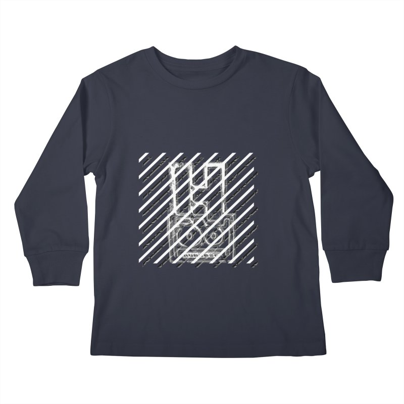 Hundred Between The Lines Kids Longsleeve T-Shirt by HUNDRED