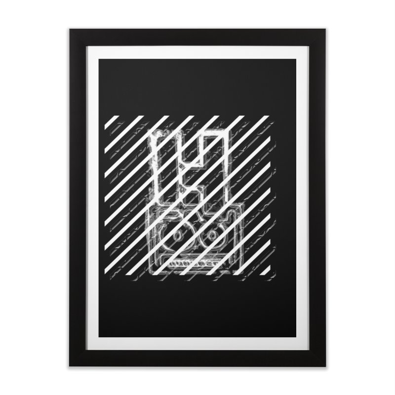 Hundred Between The Lines Home Framed Fine Art Print by HUNDRED