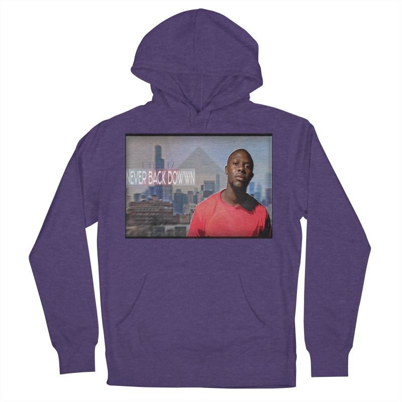 Joe Mighty Never Back Down  Men's French Terry Pullover Hoody by HUNDRED