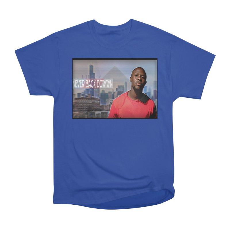 Joe Mighty Never Back Down  Women's Heavyweight Unisex T-Shirt by HUNDRED