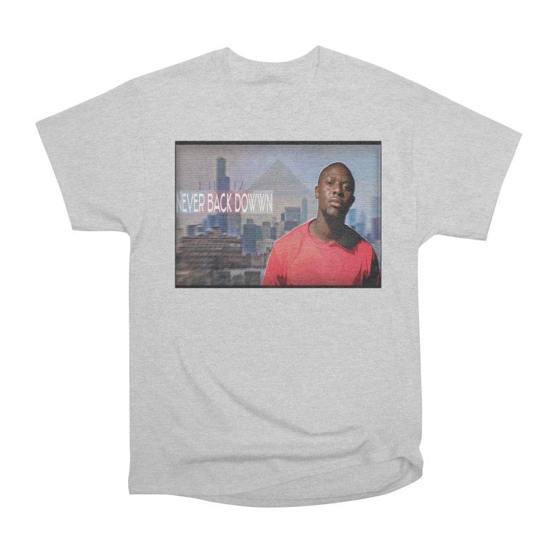 Joe Mighty Never Back Down  Men's Heavyweight T-Shirt by HUNDRED