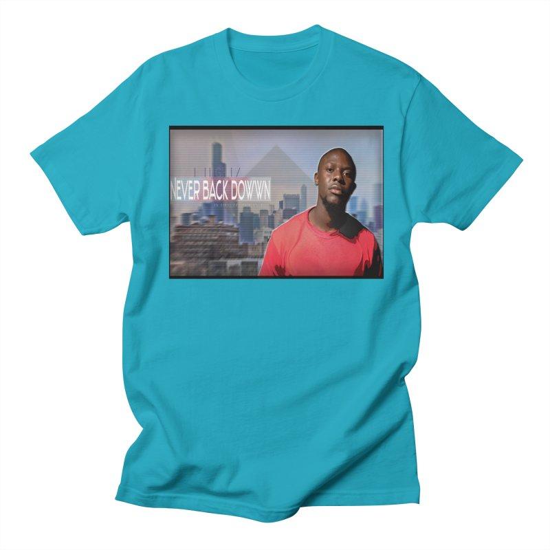 Joe Mighty Never Back Down  Men's Regular T-Shirt by HUNDRED