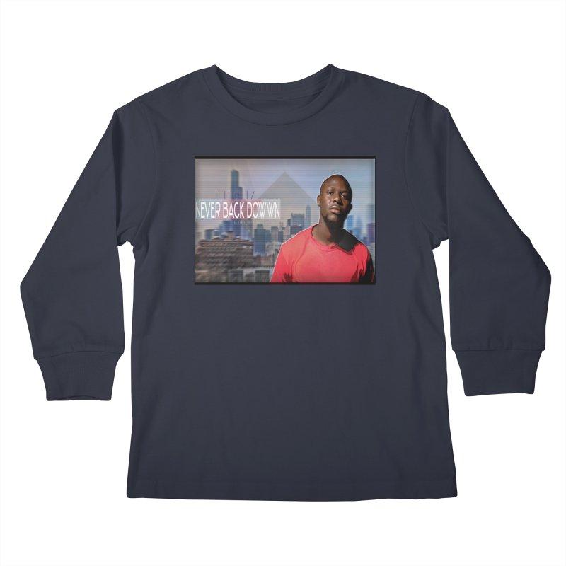 Joe Mighty Never Back Down  Kids Longsleeve T-Shirt by HUNDRED