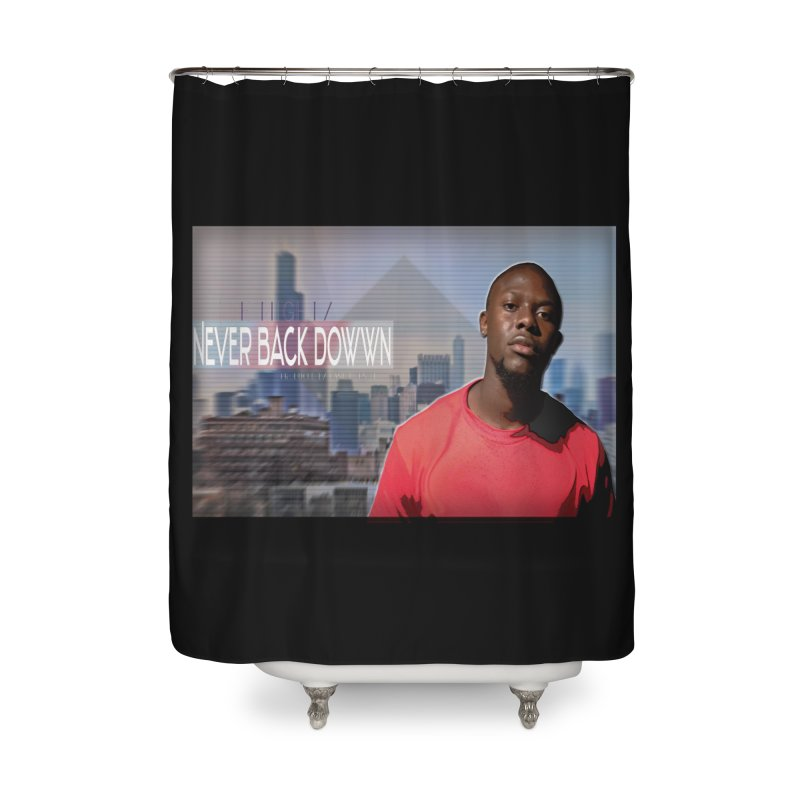 Joe Mighty Never Back Down  Home Shower Curtain by HUNDRED