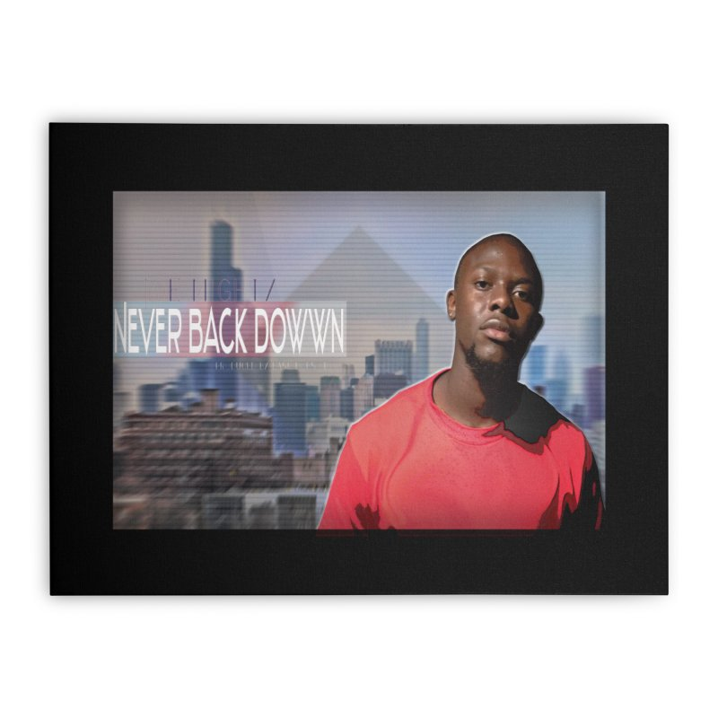 Joe Mighty Never Back Down  Home Stretched Canvas by HUNDRED