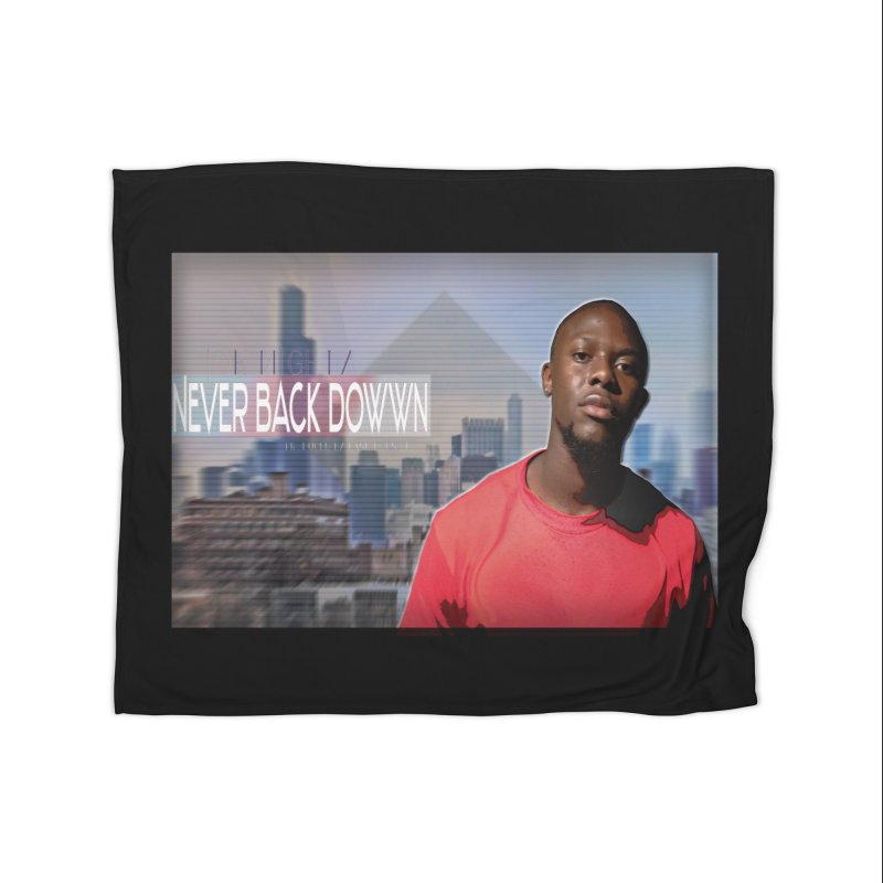 Joe Mighty Never Back Down  Home Fleece Blanket Blanket by HUNDRED