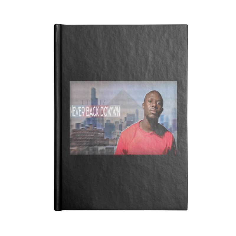 Joe Mighty Never Back Down  Accessories Lined Journal Notebook by HUNDRED
