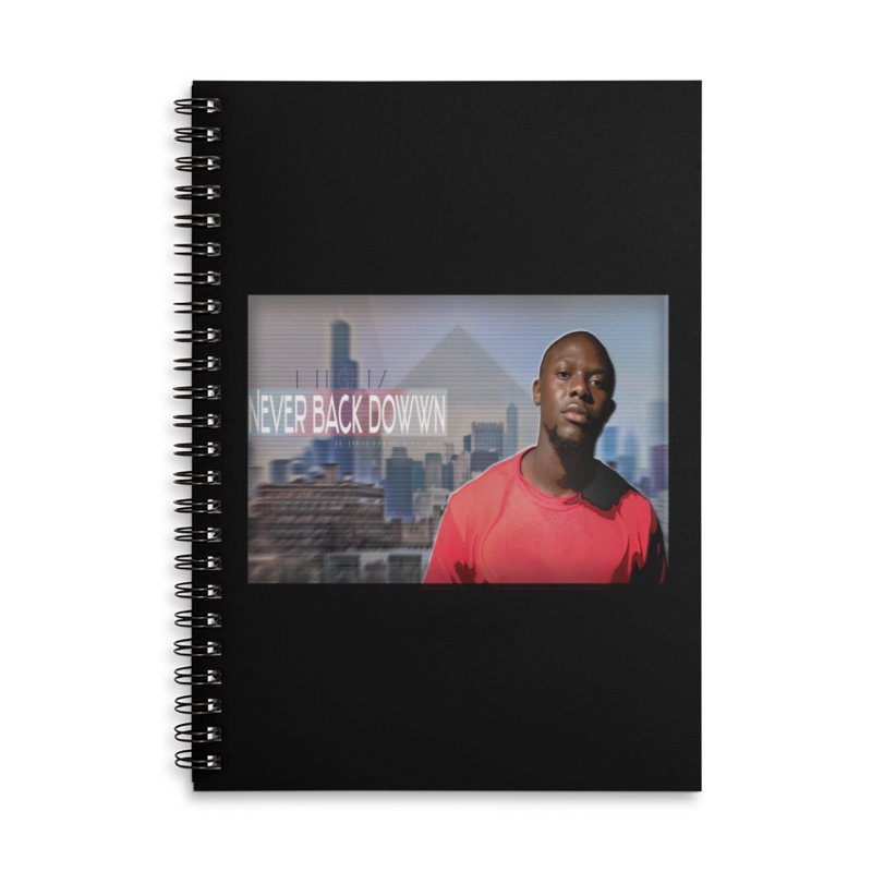 Joe Mighty Never Back Down  Accessories Lined Spiral Notebook by HUNDRED