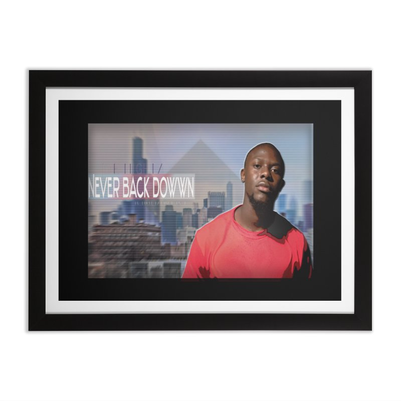 Joe Mighty Never Back Down  Home Framed Fine Art Print by HUNDRED