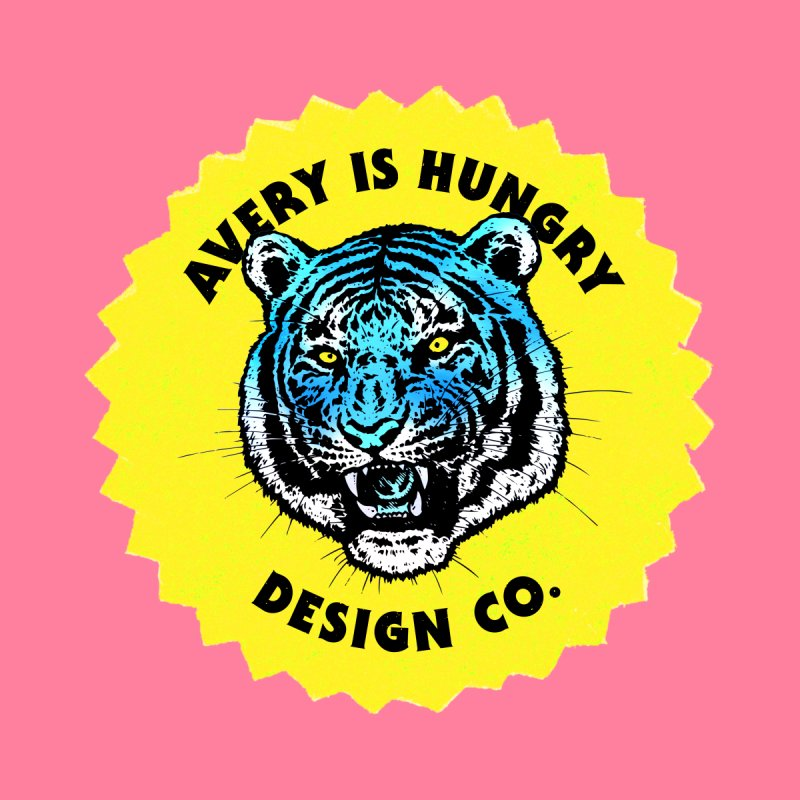 Hungry Tiger Logo Men's Tank by Hungry Design Club