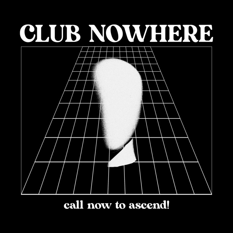 CLUB NOWHERE - CALL NOW TO ASCEND! Shirts and Tops Pullover Hoody by HUNK SHOP
