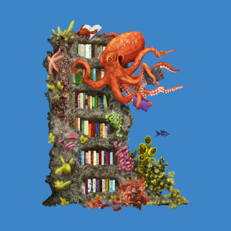 Octopus Librarian None  by hwango's Artist Shop