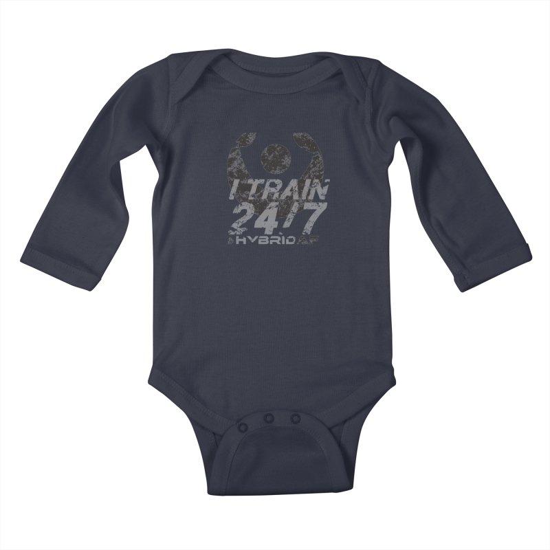 Train Anytime v3 Kids Baby Longsleeve Bodysuit by HybridAF Shop
