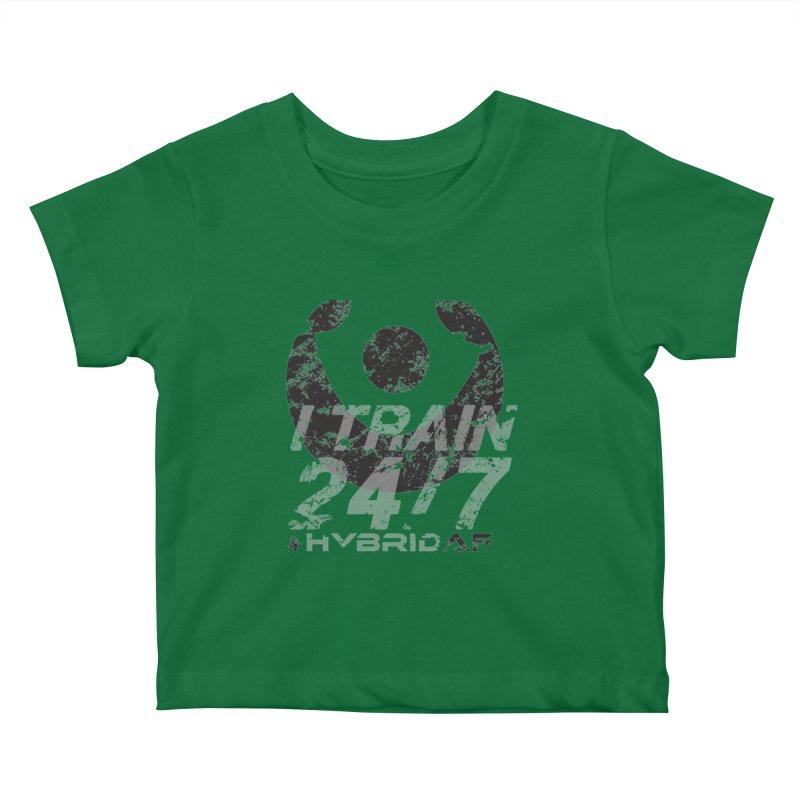 Train Anytime v3 Kids Baby T-Shirt by HybridAF Shop