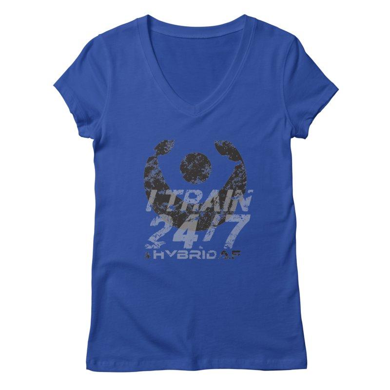 Train Anytime v3 Women's V-Neck by HybridAF Shop