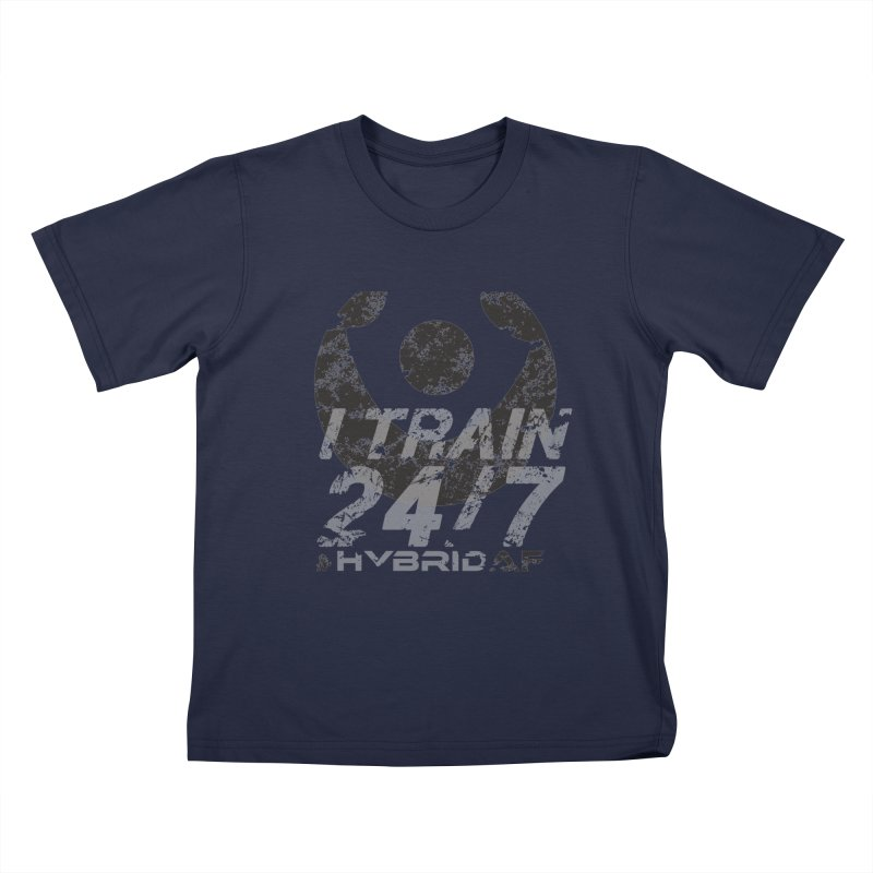 Train Anytime v3 Kids T-Shirt by HybridAF Shop
