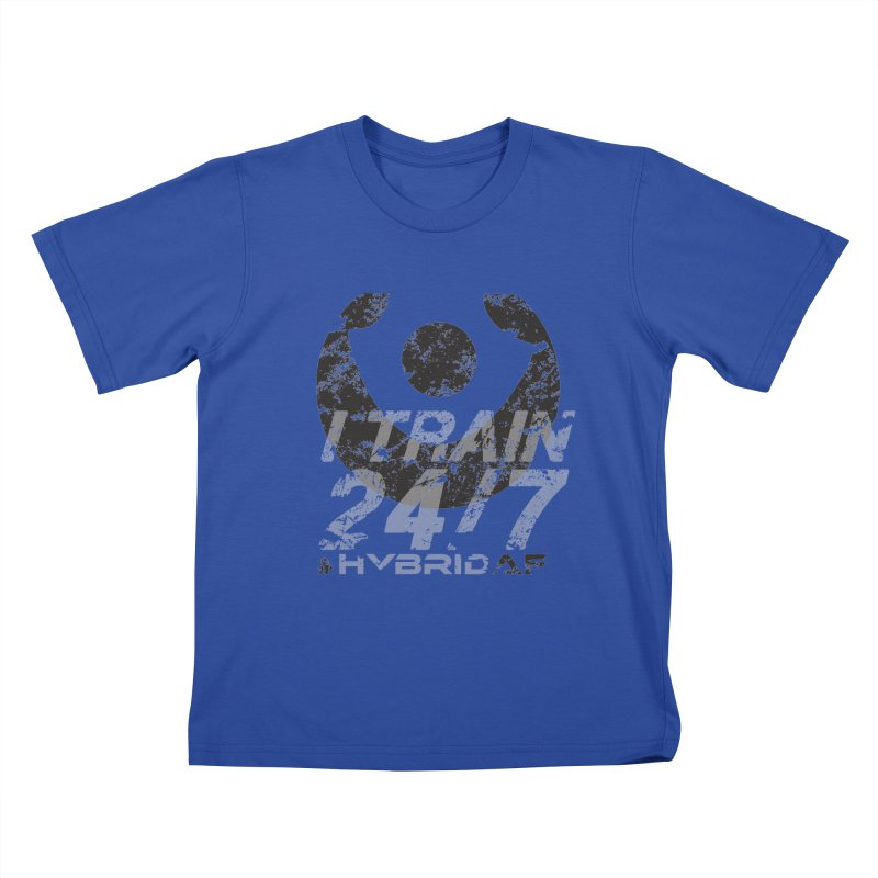 Train Anytime v3 Kids T-Shirt by HybridAF Shop