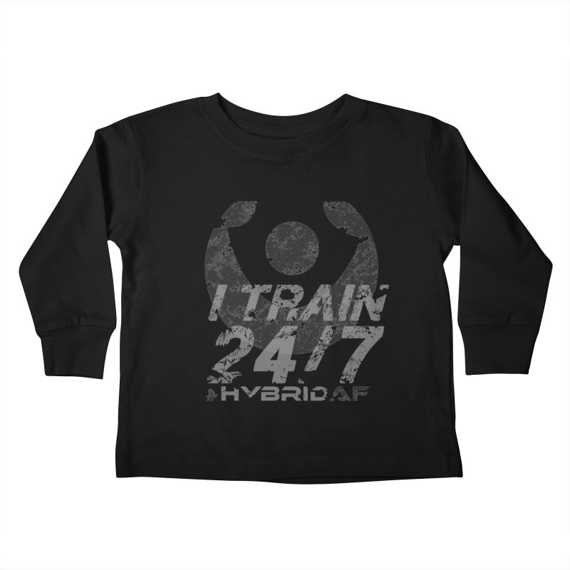 Train Anytime v3 Kids Toddler Longsleeve T-Shirt by HybridAF Shop