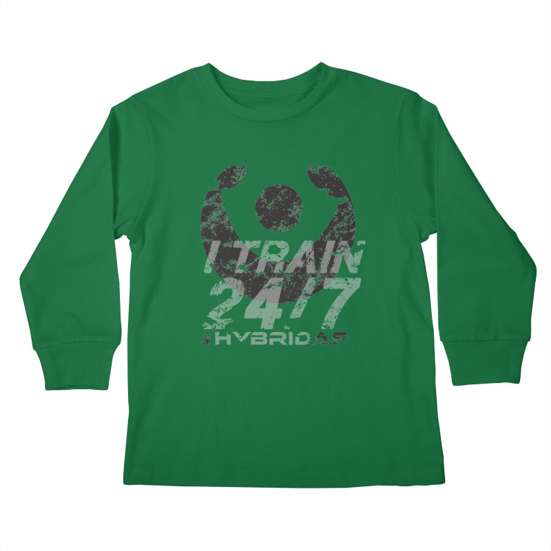 Train Anytime v3 Kids Longsleeve T-Shirt by HybridAF Shop