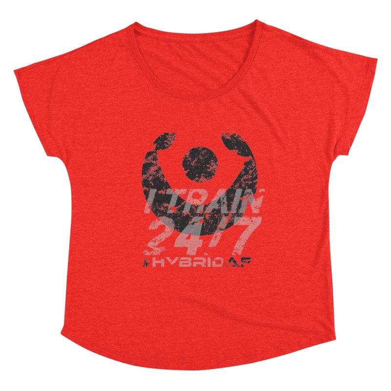 Train Anytime v3 Women's Scoop Neck by HybridAF Shop