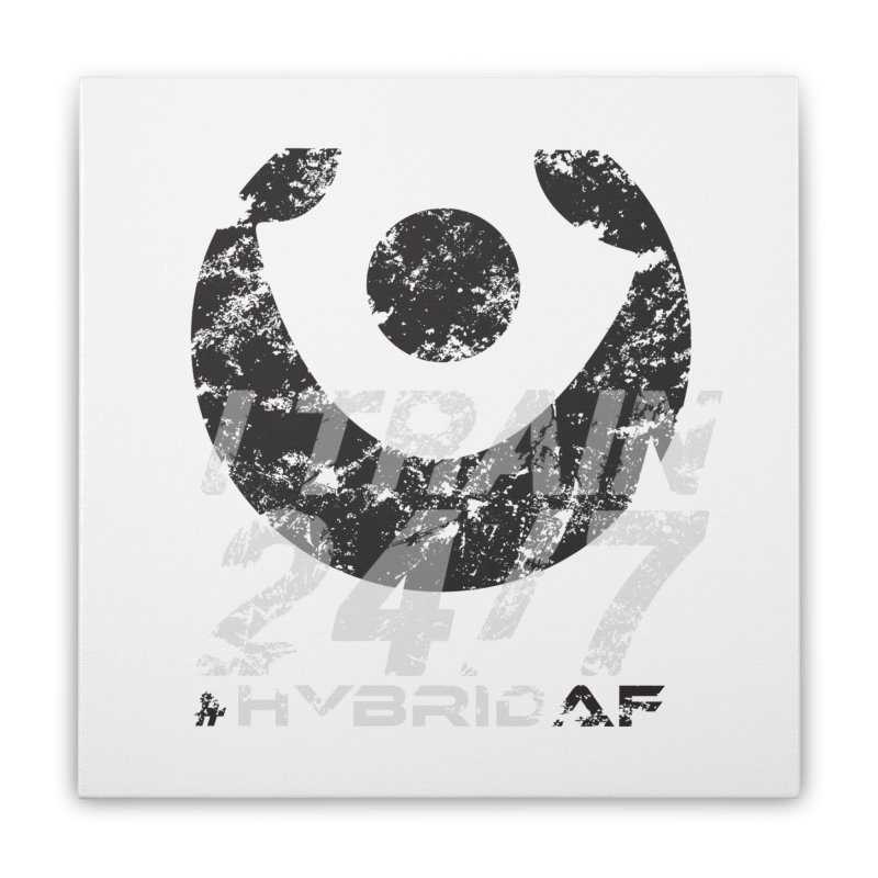 Train Anytime v3 Home Stretched Canvas by HybridAF Shop