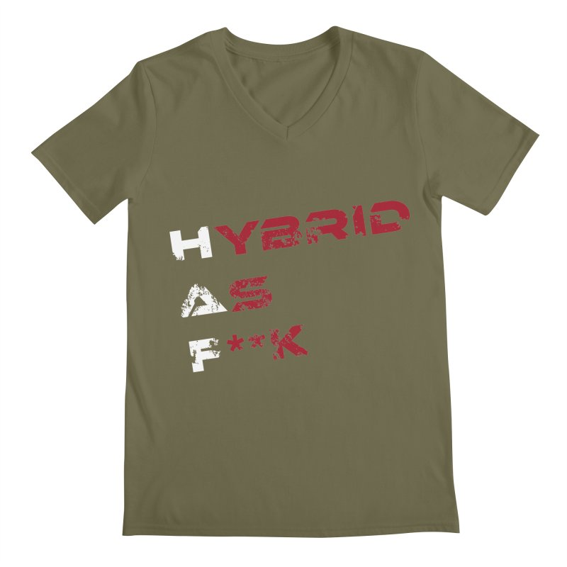 Hybrid As What? Men's V-Neck by HybridAF Shop