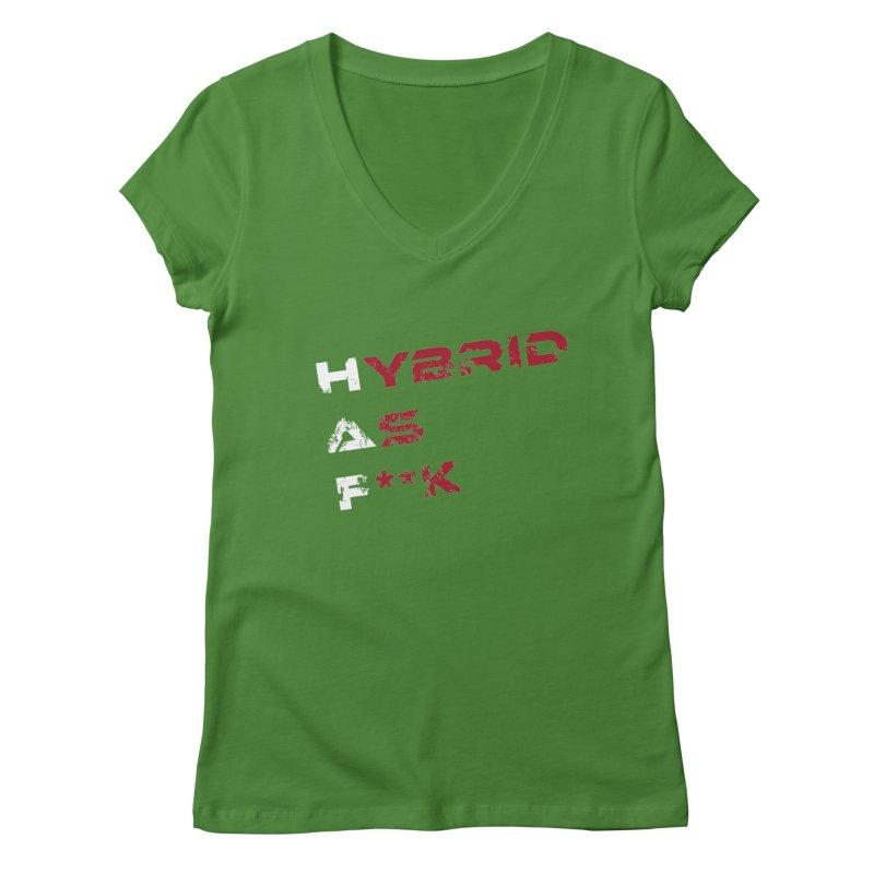 Hybrid As What? Women's V-Neck by HybridAF Shop