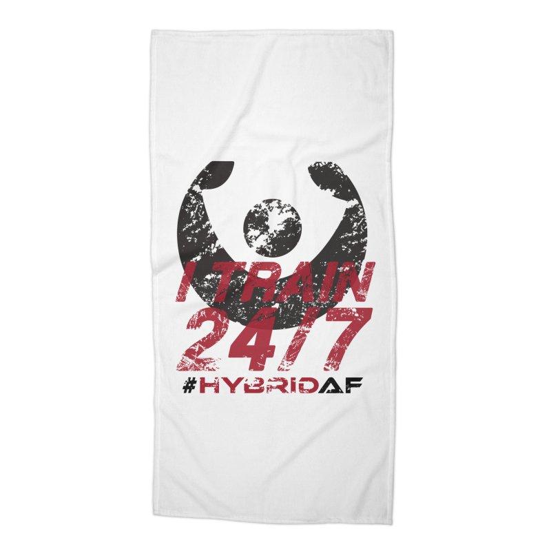 I Train 24/7 Accessories Beach Towel by HybridAF Shop