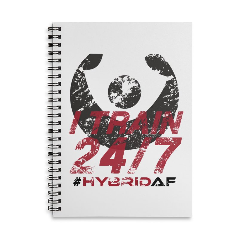 I Train 24/7 Accessories Notebook by HybridAF Shop