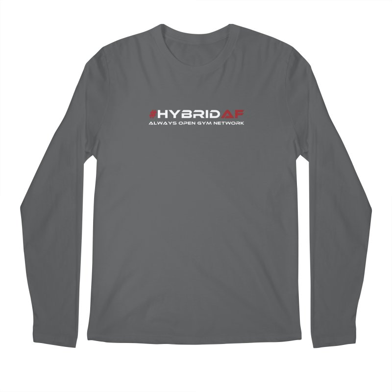 HybridAF - Always Open Gym Network Men's Longsleeve T-Shirt by HybridAF Shop