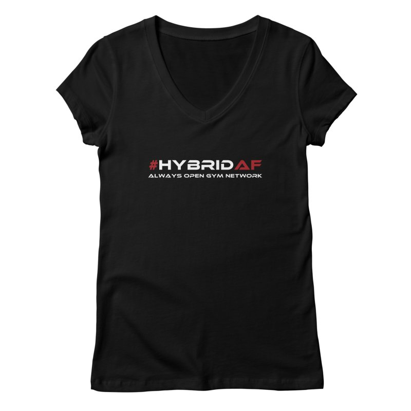 HybridAF - Always Open Gym Network Women's V-Neck by HybridAF Shop