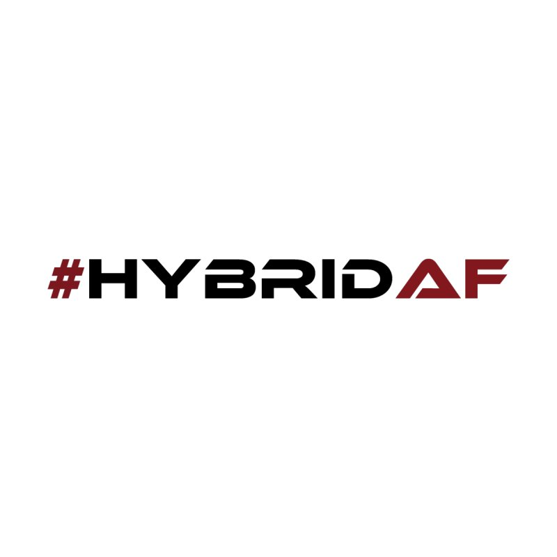 HybridAF - Original (Black) Accessories Sticker by HybridAF Shop