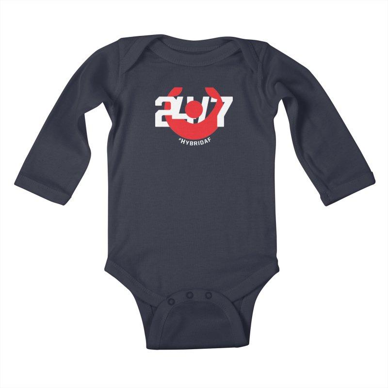 24/7 Hybrid Kids Baby Longsleeve Bodysuit by HybridAF Shop