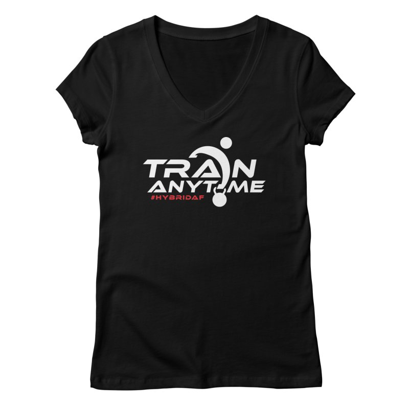 Train Anytime Women's V-Neck by HybridAF Shop